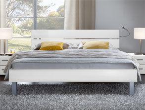 betten in wei bequem online bestellen. Black Bedroom Furniture Sets. Home Design Ideas