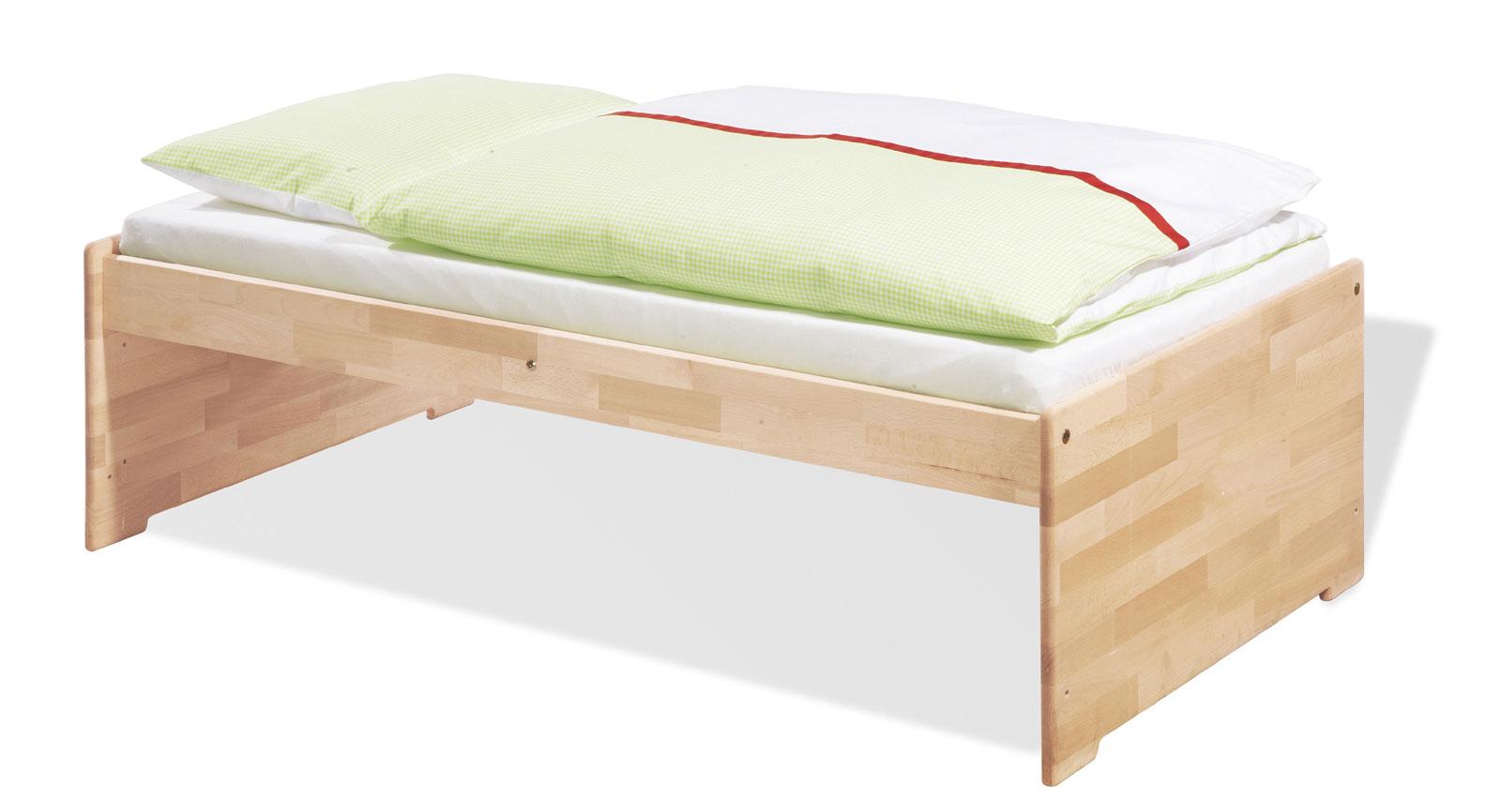kinderbett natura mit lattenrost in 70x240 cm von. Black Bedroom Furniture Sets. Home Design Ideas