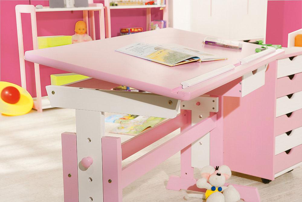 schreibtisch jana rosa kinderschreibtisch f r m dchen. Black Bedroom Furniture Sets. Home Design Ideas