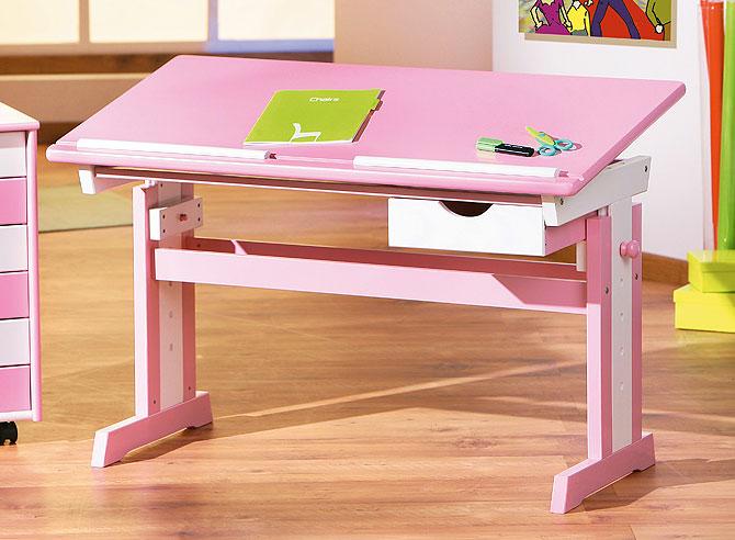Schreibtisch Jana - rosa Kinderschreibtisch für Mädchen