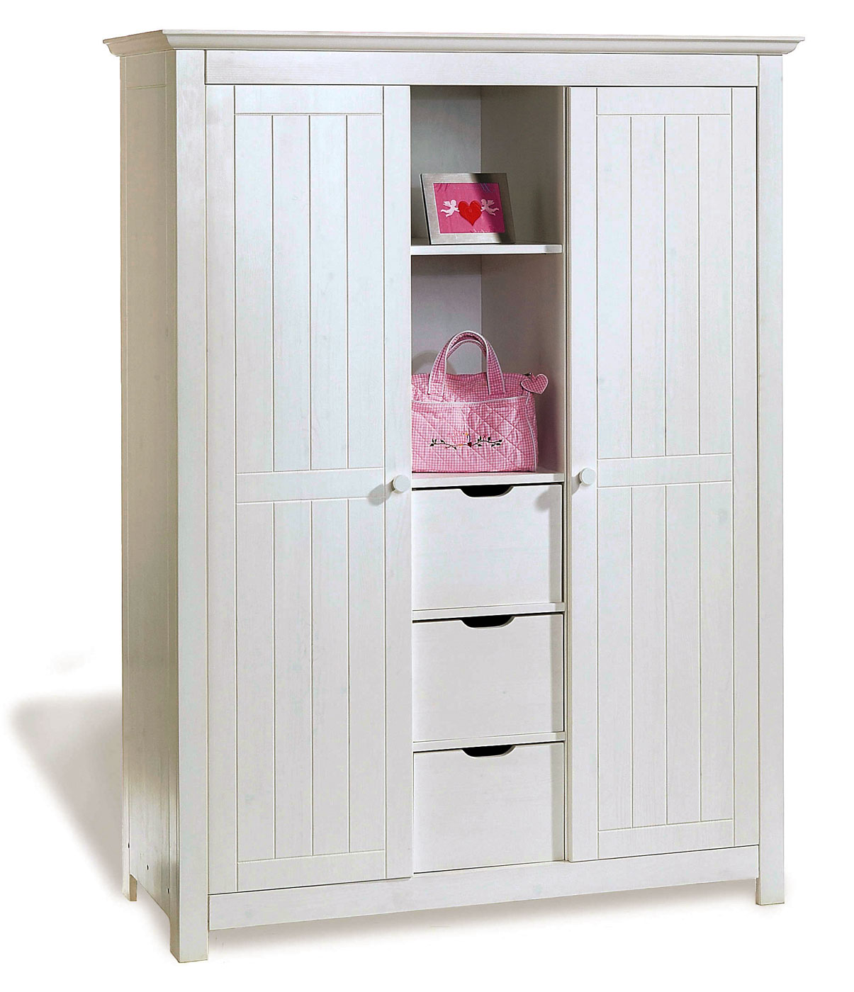 Kleiderschrank Fürs Kinderzimmer Aus Weißer Fichte Nina