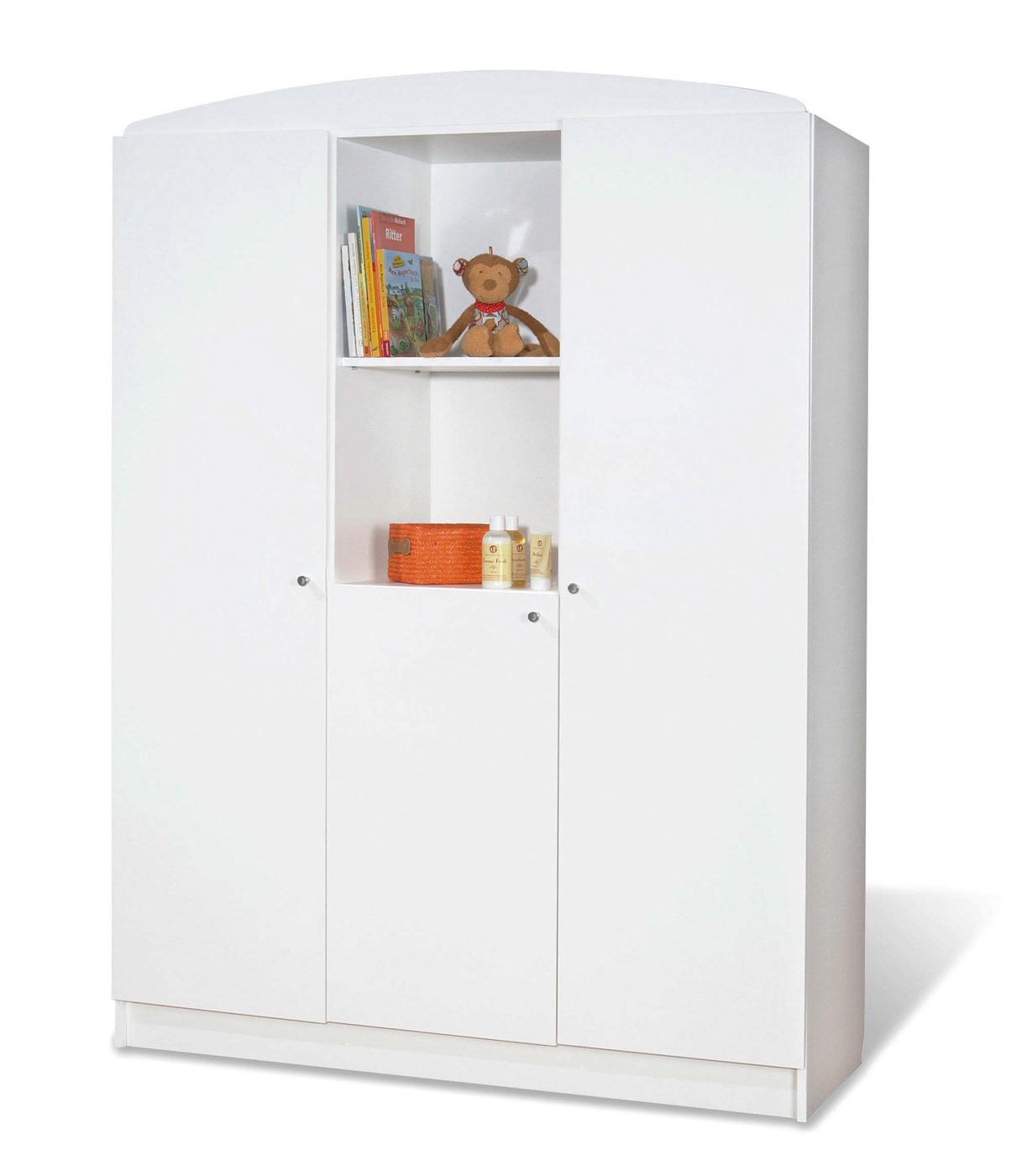 Kleiderschrank dekorieren  Weißer Kleiderschrank mit wahlweise 2 oder 3 Türen - Jil