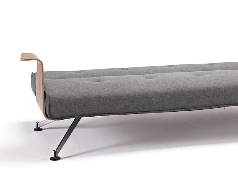 50er jahre schlafsofa mit geschwungenen armlehnen burns. Black Bedroom Furniture Sets. Home Design Ideas