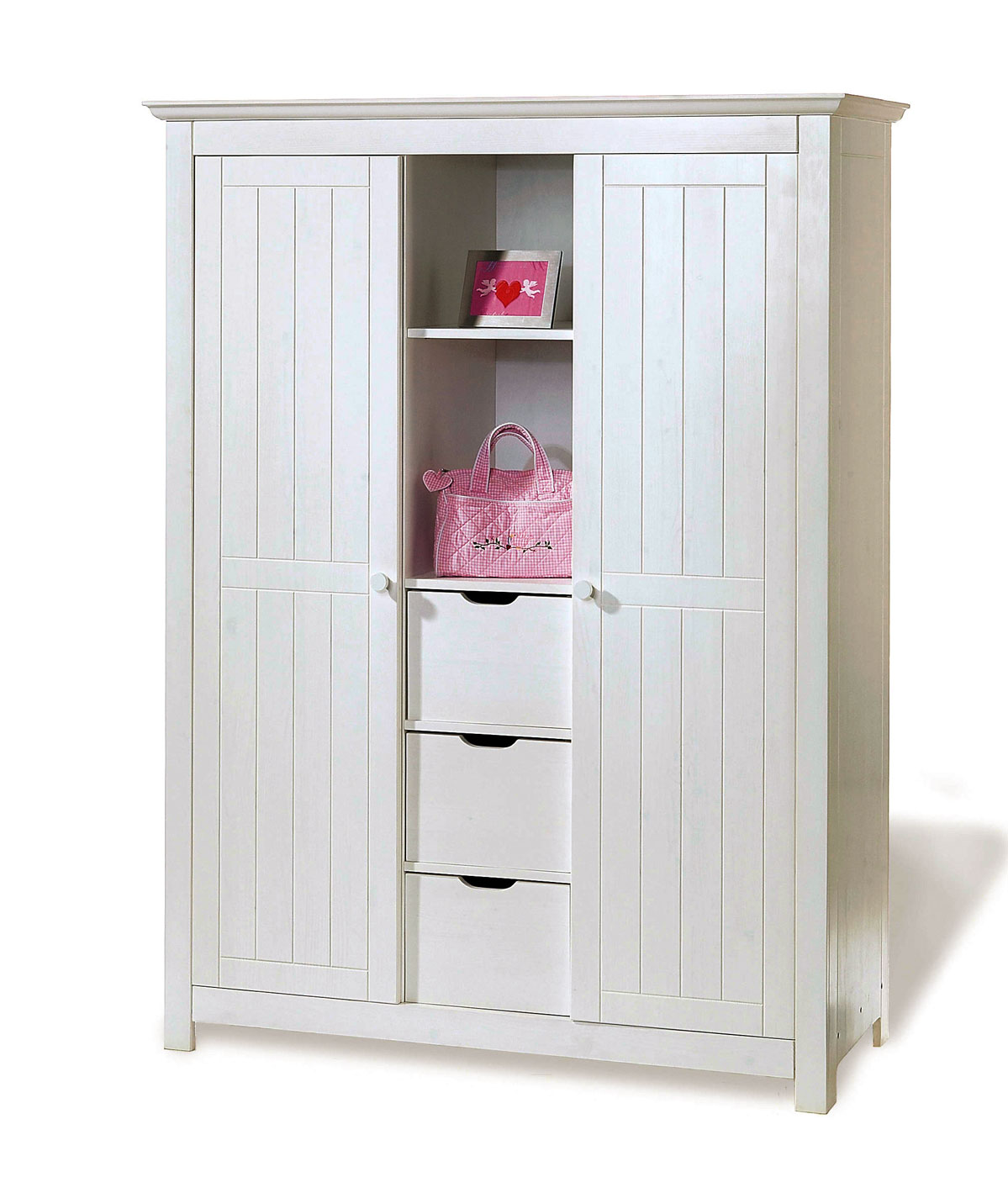 Kleiderschrank Fürs Kinderzimmer Aus Weißer Fichte Nina: Kinderzimmer Kleiderschrank Aus Weißer Fichte