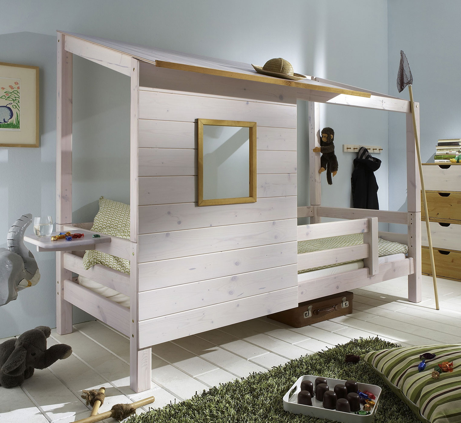 kinderbett spielhaus. Black Bedroom Furniture Sets. Home Design Ideas