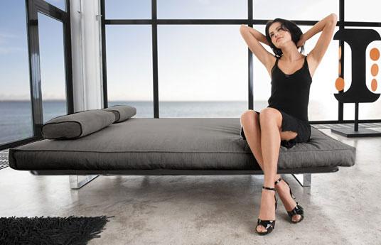 stoff schlafsofa in grau ausklappbar schlafcouch astoria. Black Bedroom Furniture Sets. Home Design Ideas