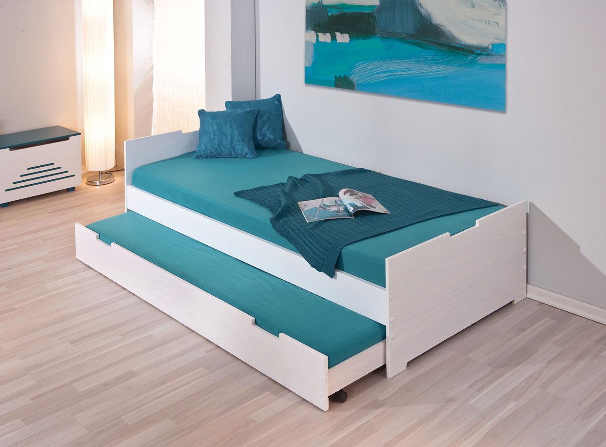 Ausziehbett in 90x190 cm aus Massivholz - Kinderbett Ben