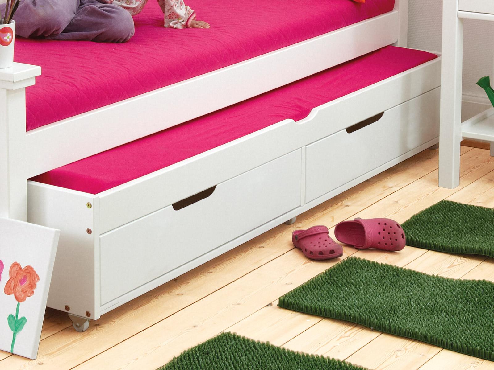 wei es ausziehbett 90x200cm inklusive lattenrost kids. Black Bedroom Furniture Sets. Home Design Ideas