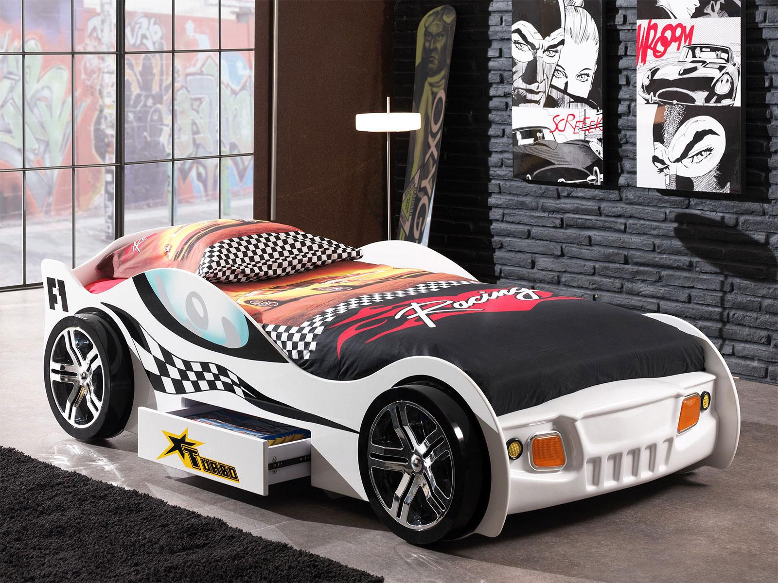 Etagenbett Autobett : Autobett kinderzimmer cat garage car weiß schwarz kaufen bei