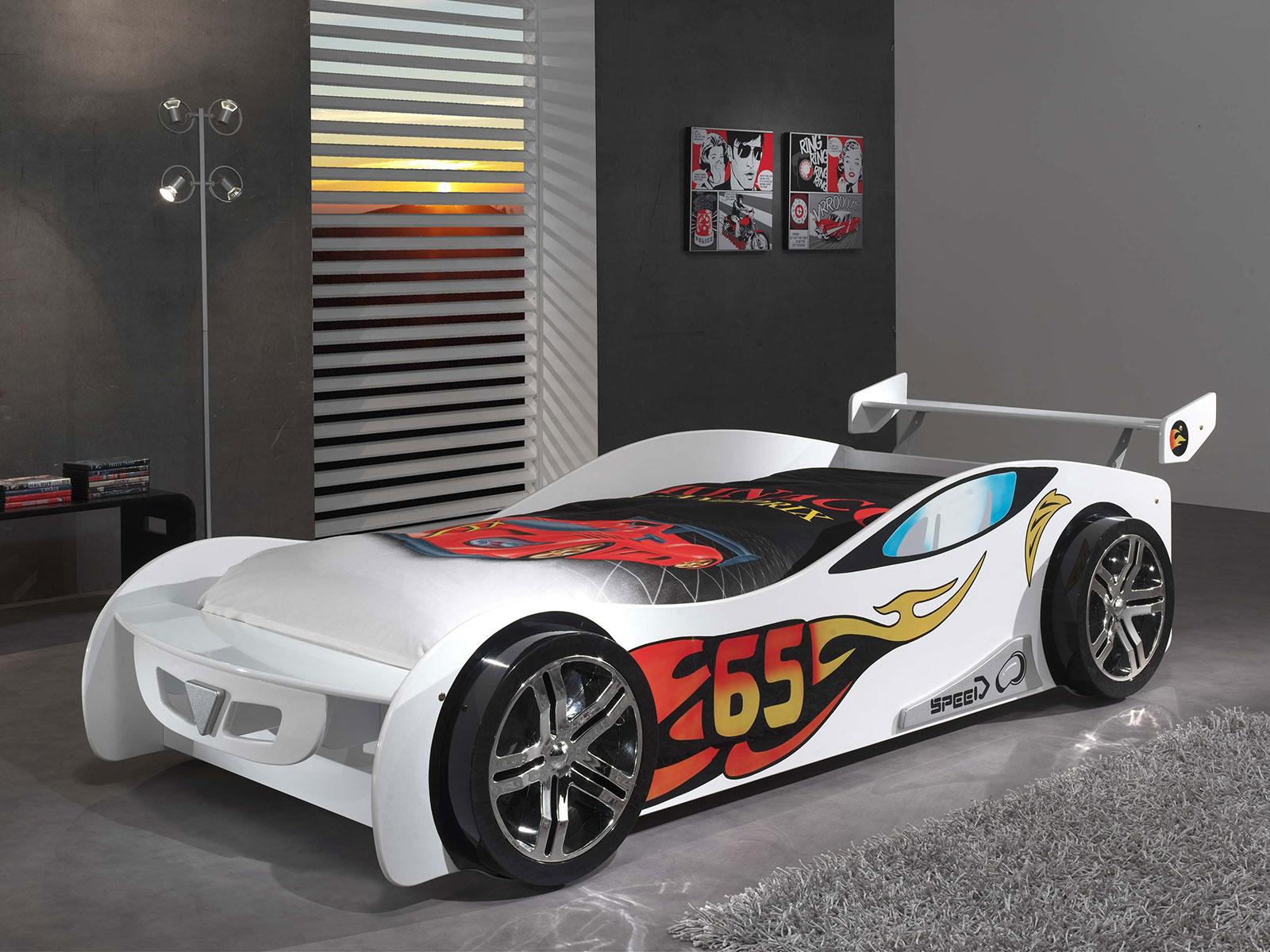 Cars Bett 90x200: Autobett 90x200 Cm Mit Spoiler Für Jungen