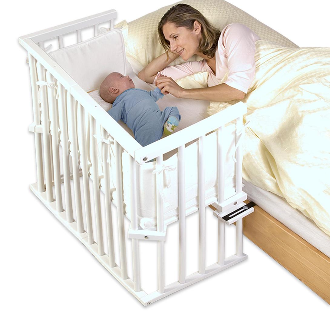 h henverstellbares beistellbett aus buche babybay midi. Black Bedroom Furniture Sets. Home Design Ideas