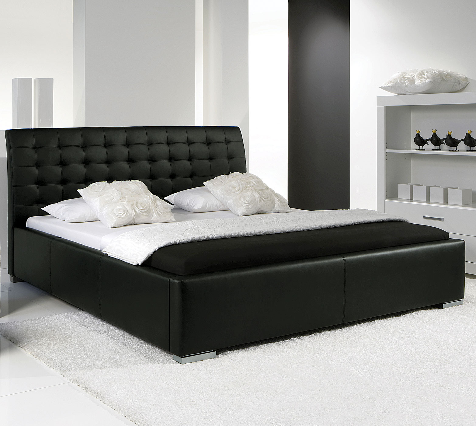lederbett baskerville comfort z b auf rechnung bestellbar. Black Bedroom Furniture Sets. Home Design Ideas