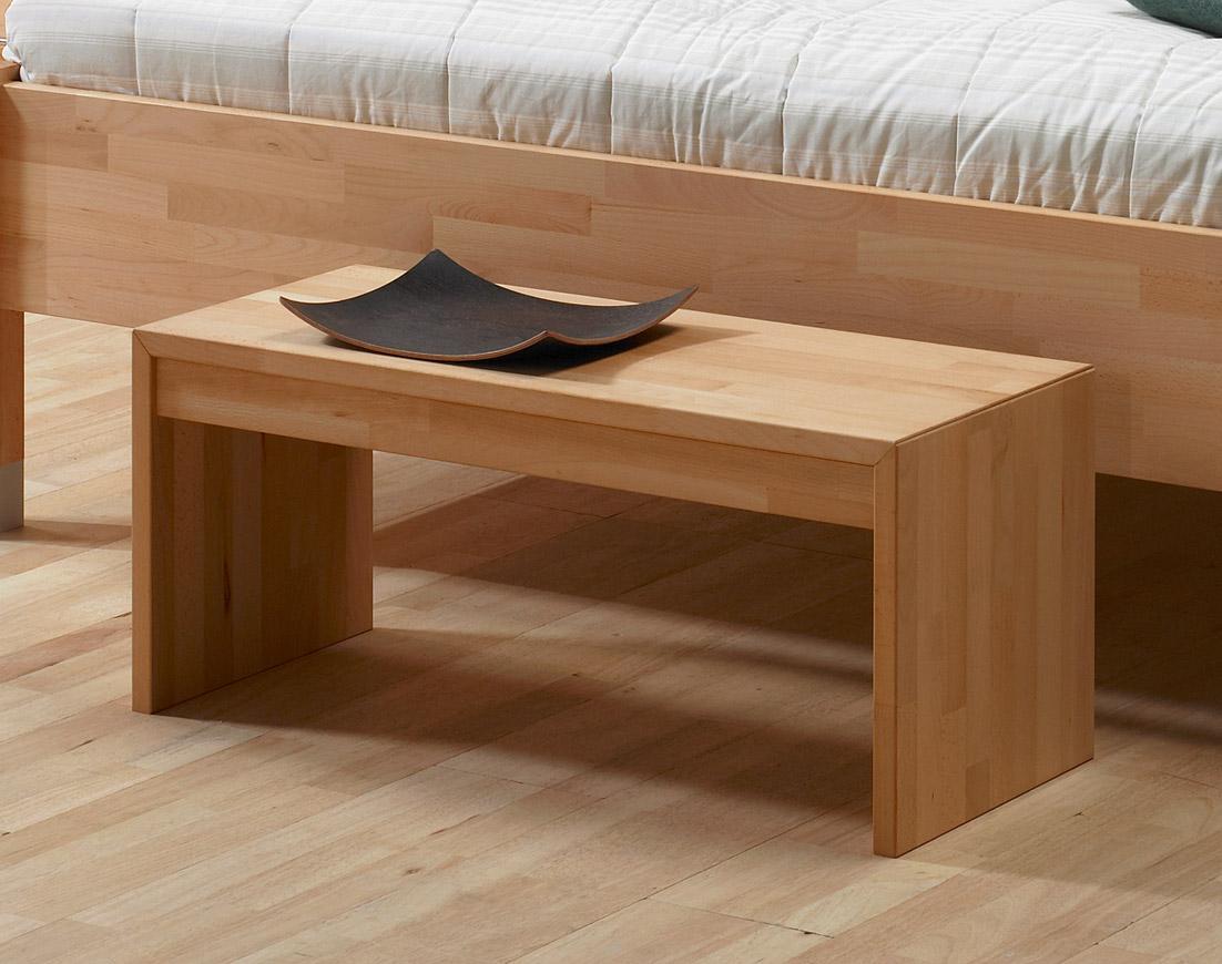 Moderne Bettbank aus massiver Buche oder Eiche - Bergamo