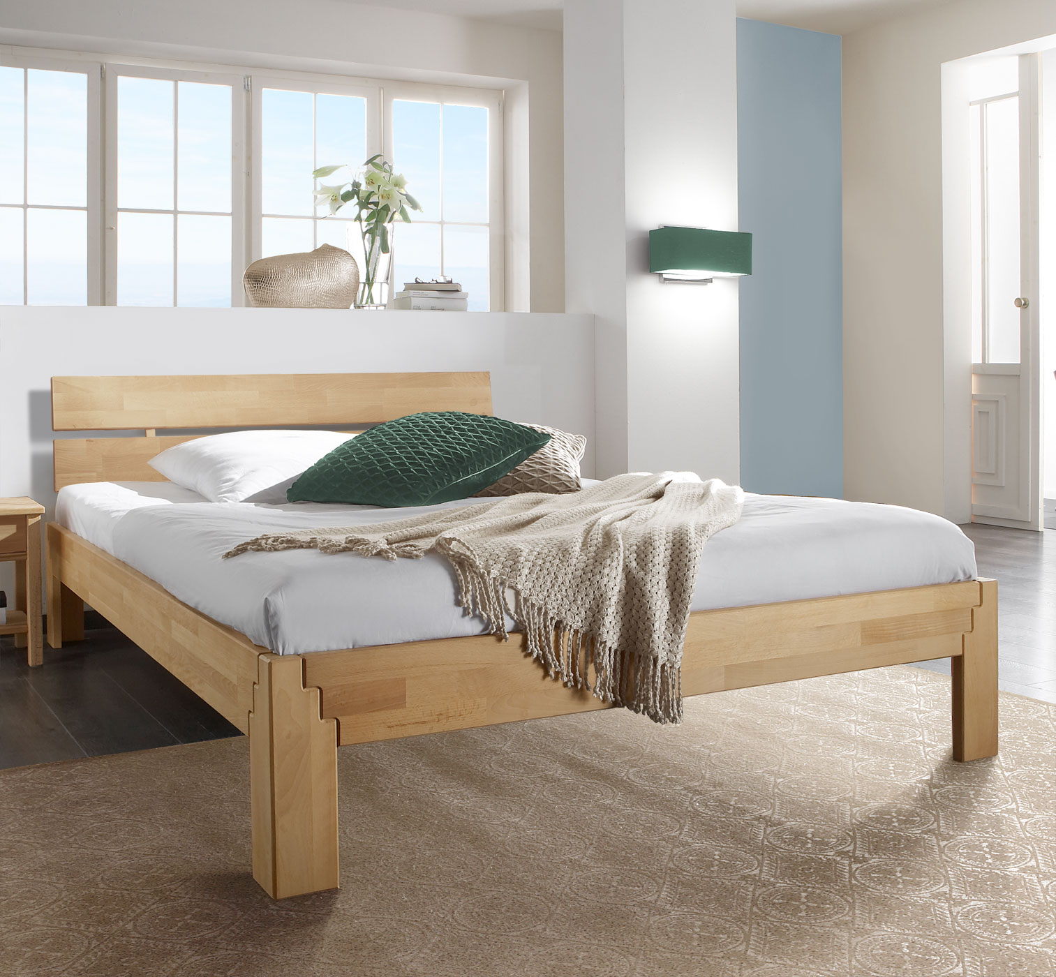buche massivholz bett 160x200 biologisch ge lt aargau. Black Bedroom Furniture Sets. Home Design Ideas