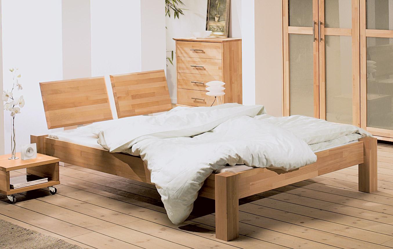 bett ariano massivholzbett mit starken beinen. Black Bedroom Furniture Sets. Home Design Ideas