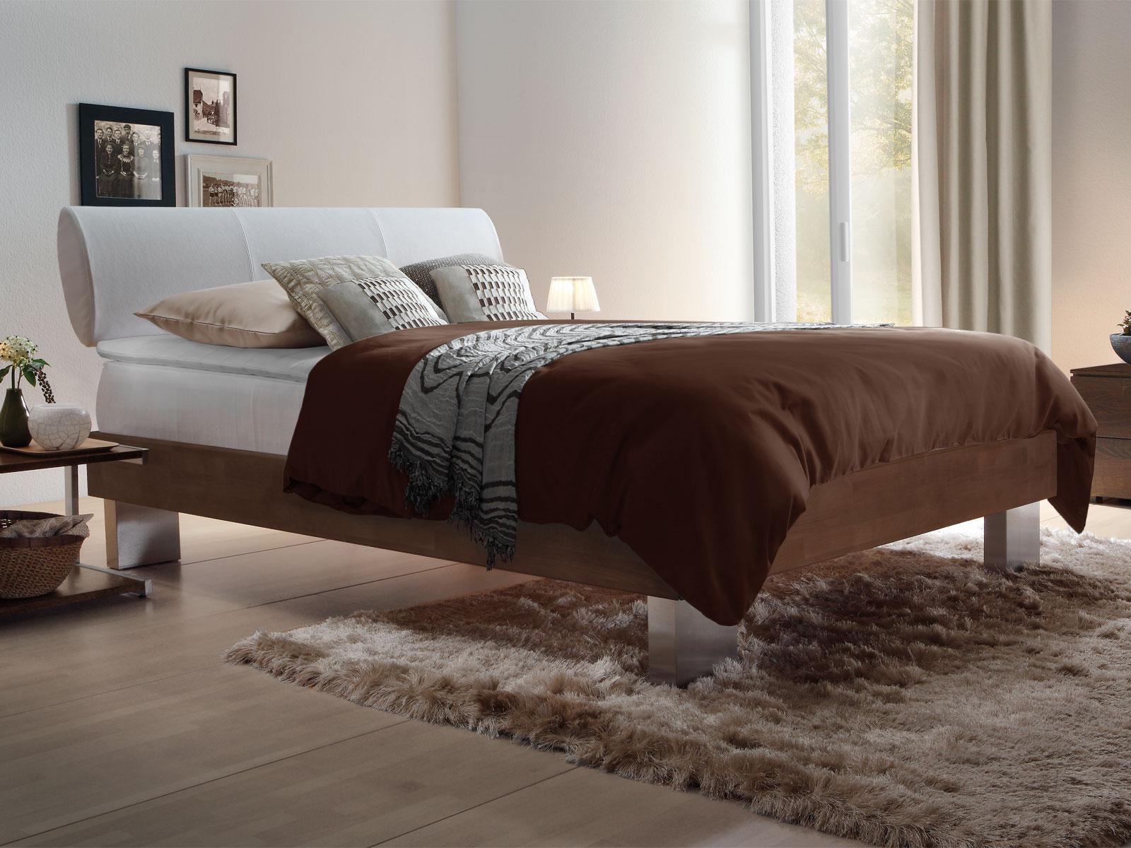 boxspringbett mit bettrahmen aus massivholz und topper cameron. Black Bedroom Furniture Sets. Home Design Ideas