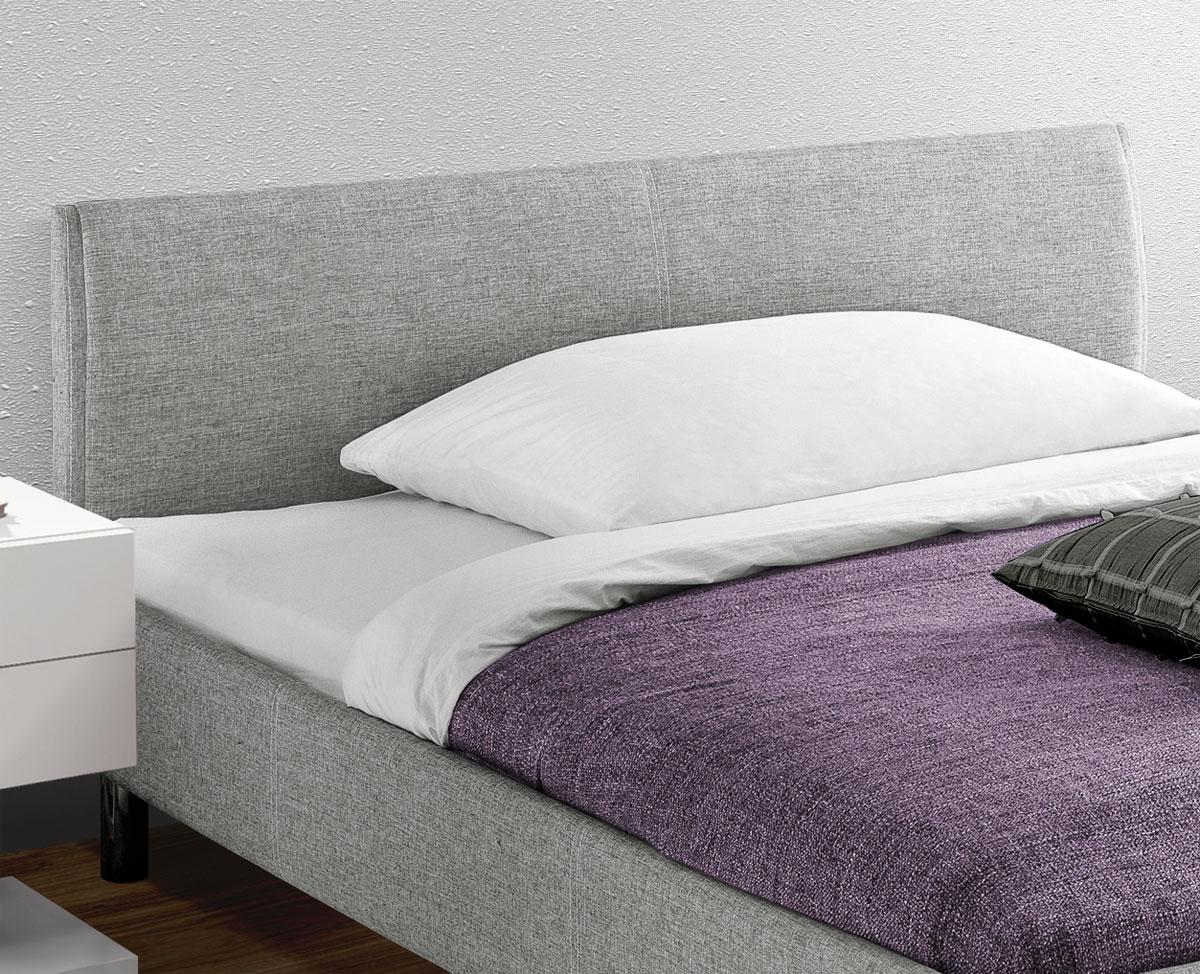 Preiswertes graues Polsterbett in 140x200 cm - Gravelines