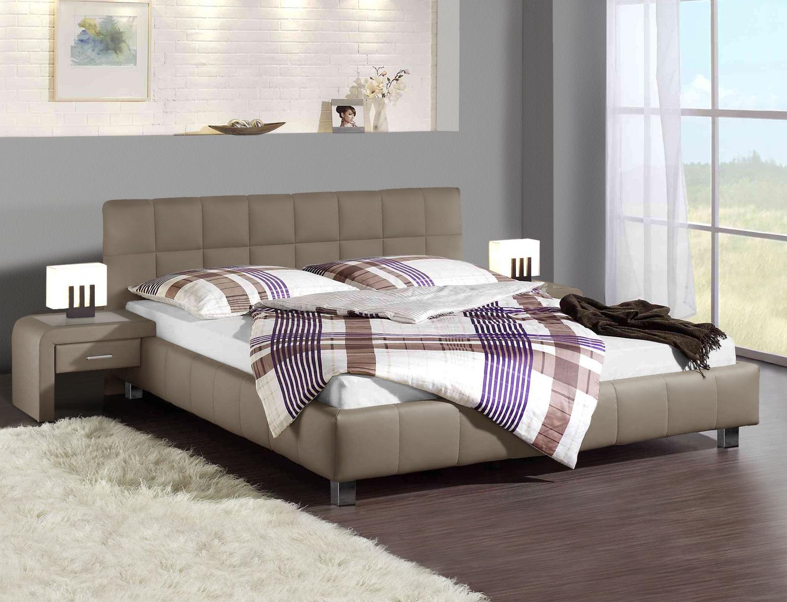 Bett 140x200 mit bettkasten  Polsterbett mit Bettkasten in 140x200 cm - Las Lomas