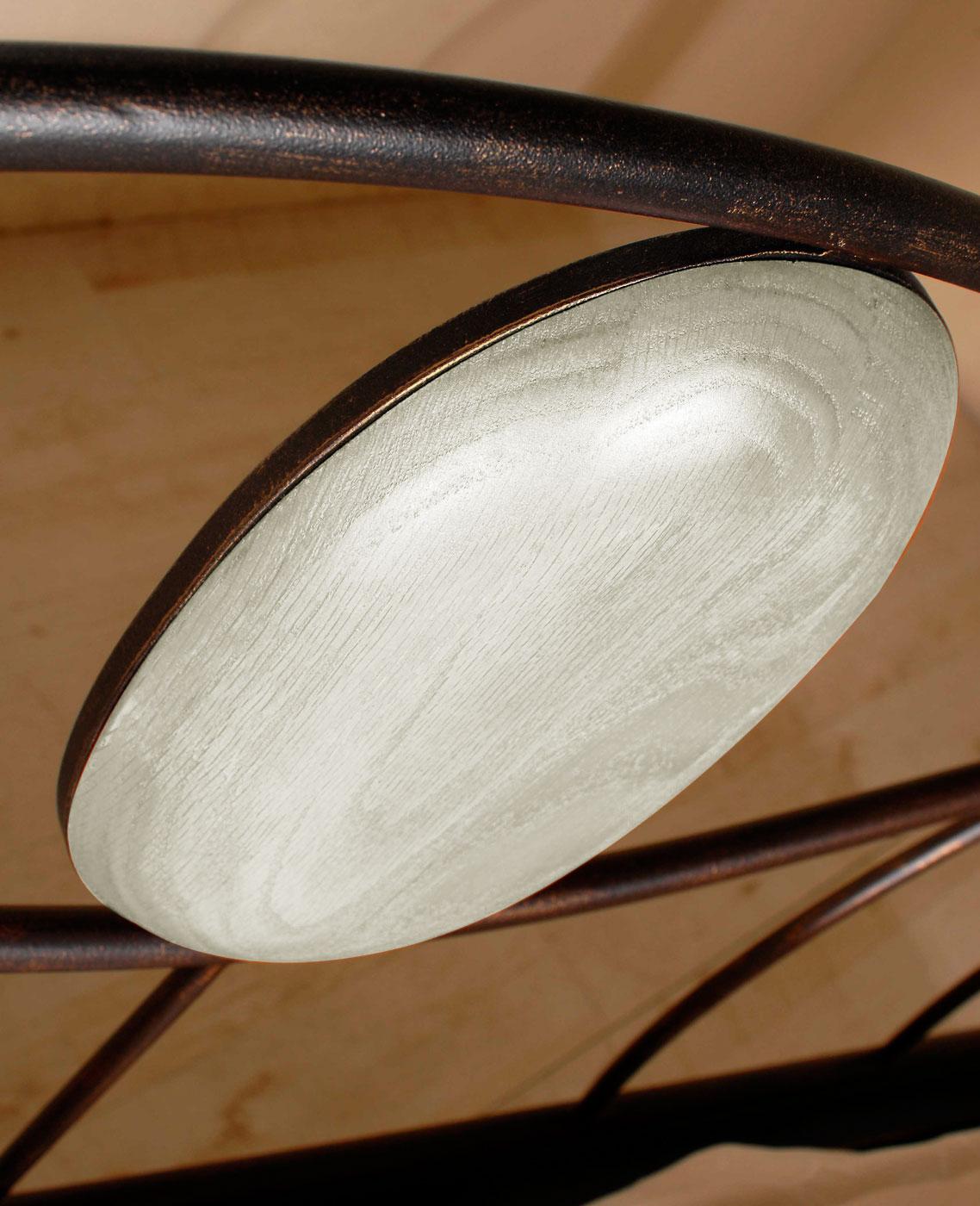 Weißes Metallbett in 180x200 cm handgeschmiedet - Lavia