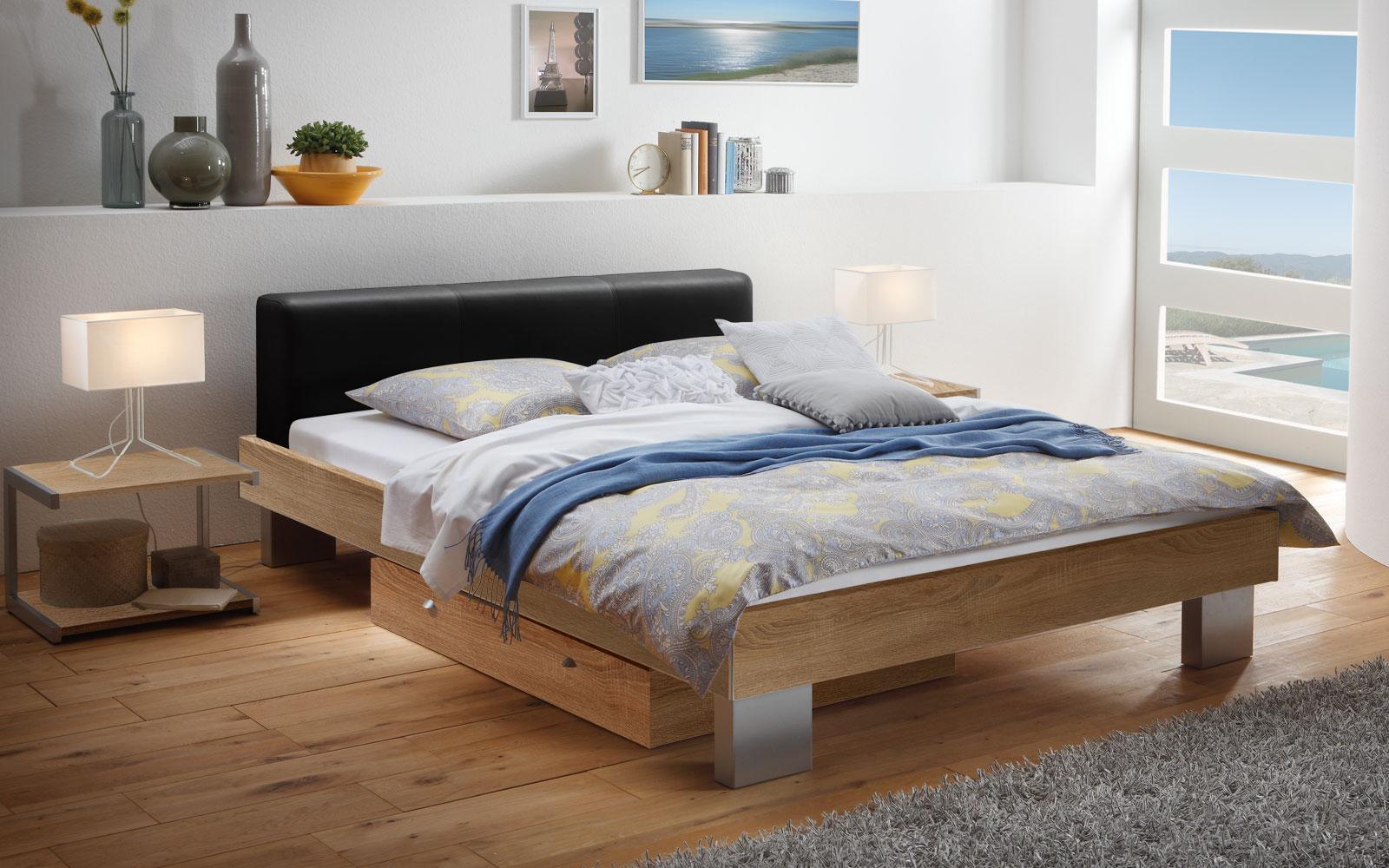 Doppelbett mit optionalem Bettkasten in z.B. 160x200 cm - Foggia