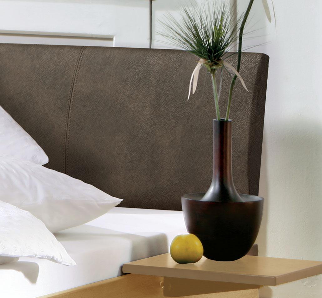 bett mit lehne aus luxus-kunstleder günstig kaufen - marbella, Hause deko