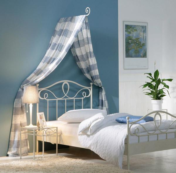 Mediterranes Metallbett In Anthrazit Oder Weiß - Piemonte Schlafzimmer Wei Romantisch
