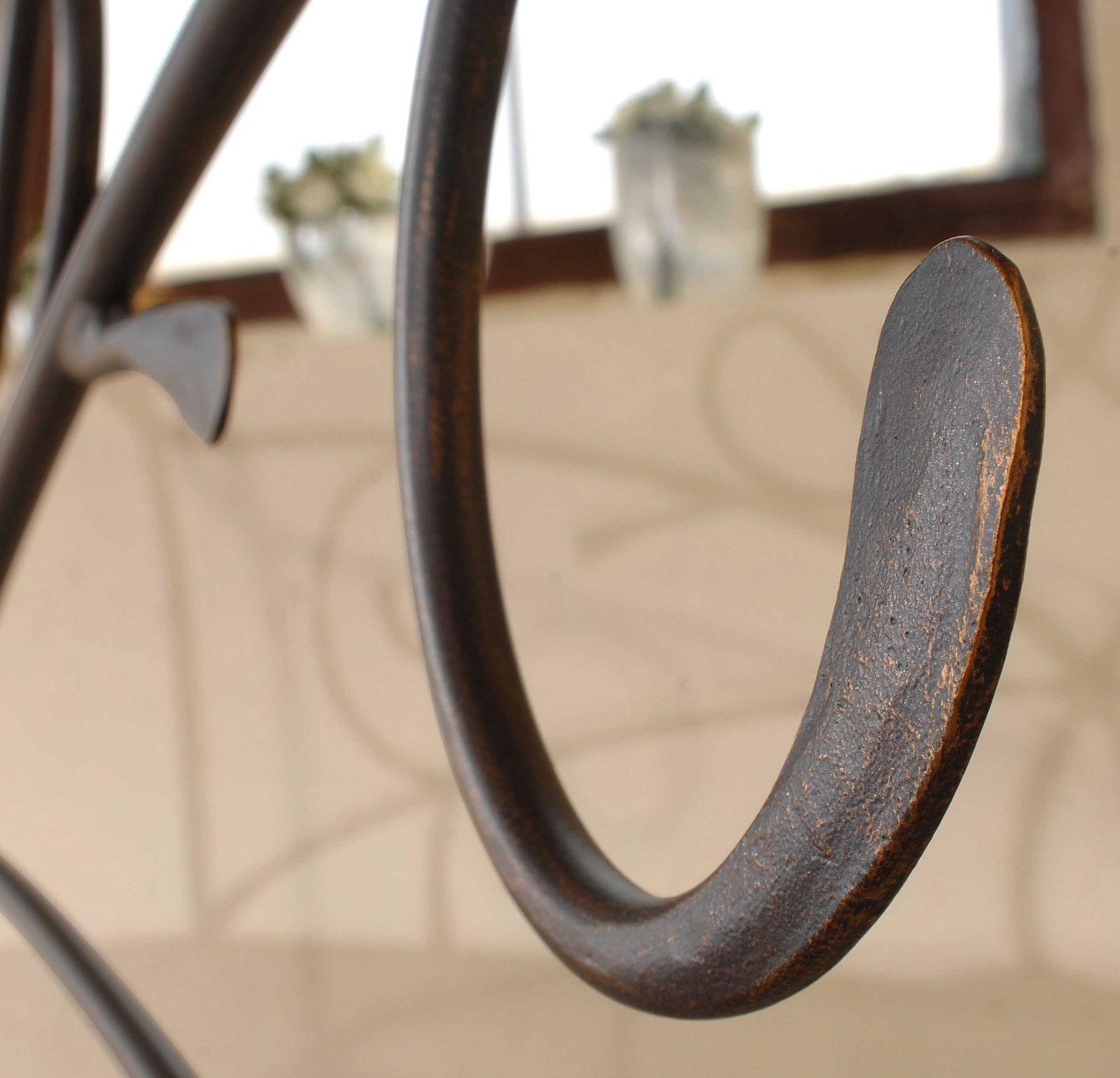 Doppelbett aus Metall in 140x200 cm Anthrazit - Porco