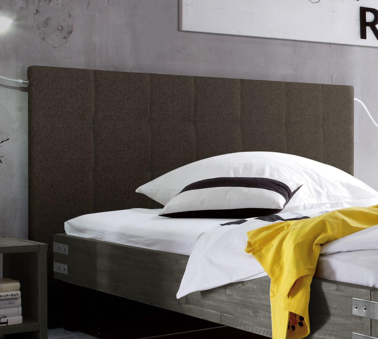 Vintage-Bett in 180x200 cm mit hohem Kopfteil - Talca