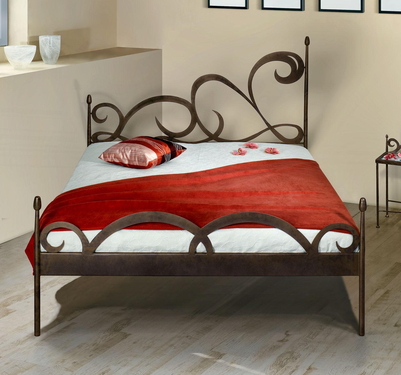 stylisches metallbett z b 180x200 cm in braun temco. Black Bedroom Furniture Sets. Home Design Ideas