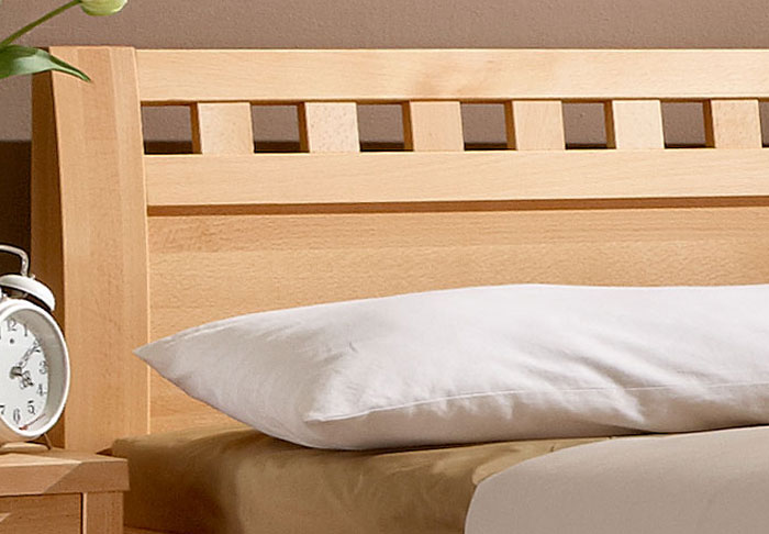 massivholzbett aus naturfarbener buche oder kernbuche wallis. Black Bedroom Furniture Sets. Home Design Ideas