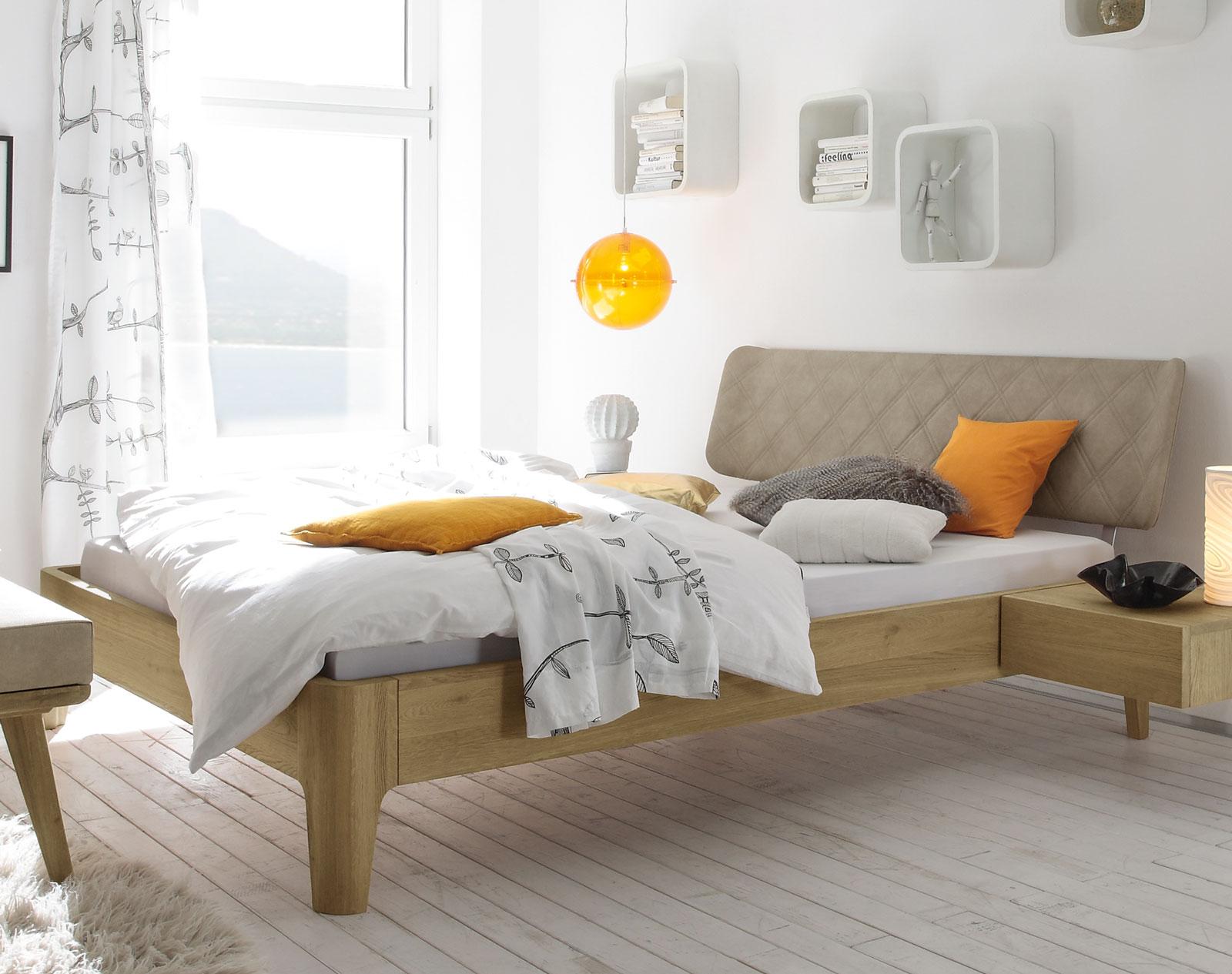 eichenbett ge lt 50er jahre retro design weno. Black Bedroom Furniture Sets. Home Design Ideas