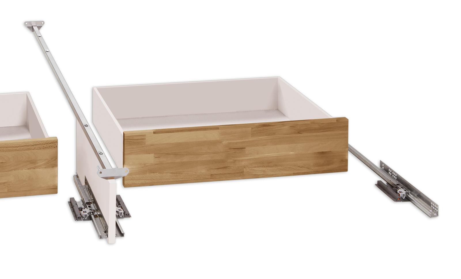 einzelbett aus holz mit schubladen kaufen leova. Black Bedroom Furniture Sets. Home Design Ideas