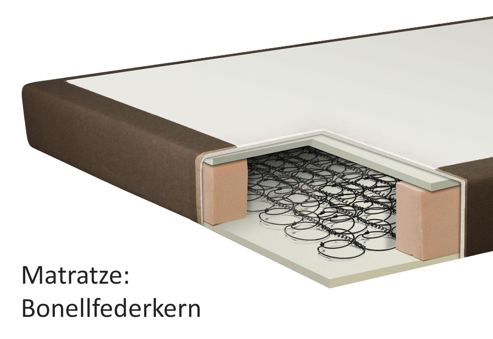boxspringbett 140x200 cm ohne kopfteil g nstig sydney. Black Bedroom Furniture Sets. Home Design Ideas