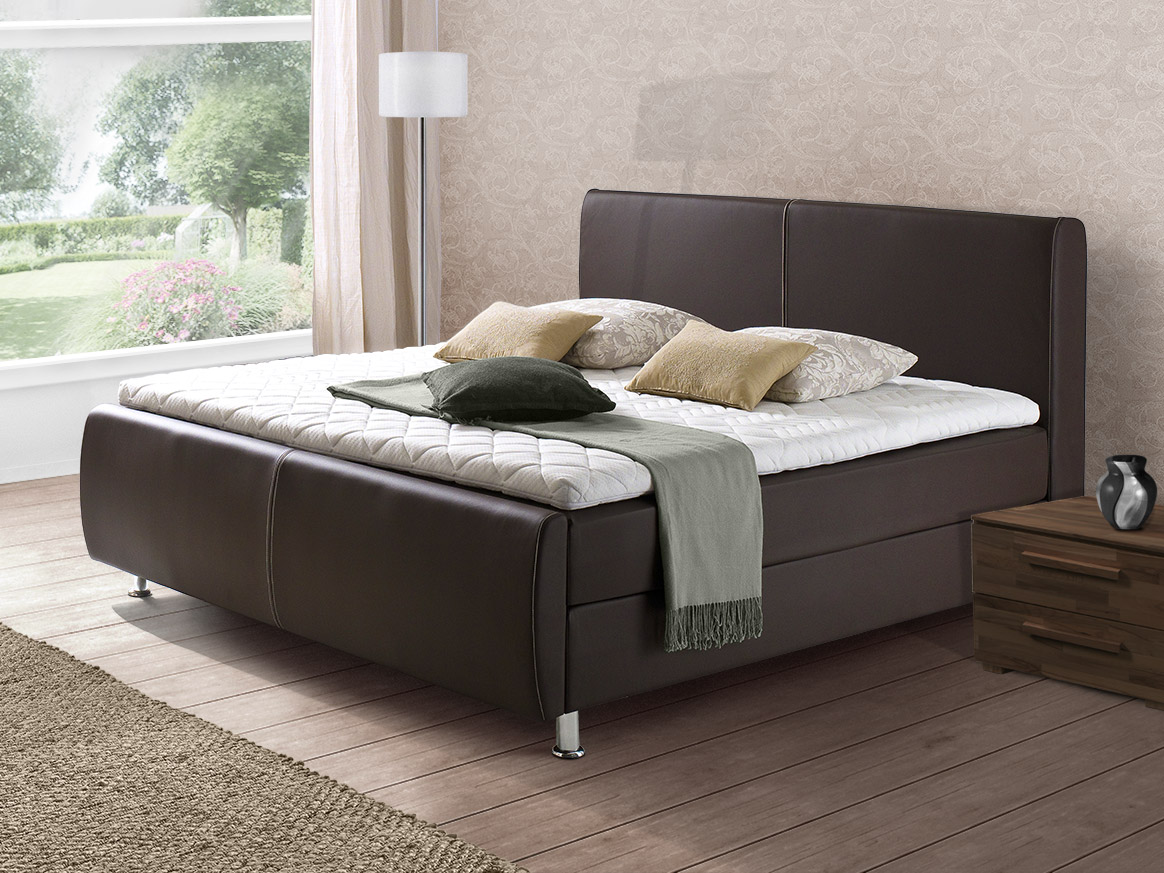 kunstleder boxspringbett in 180x200cm arlington. Black Bedroom Furniture Sets. Home Design Ideas