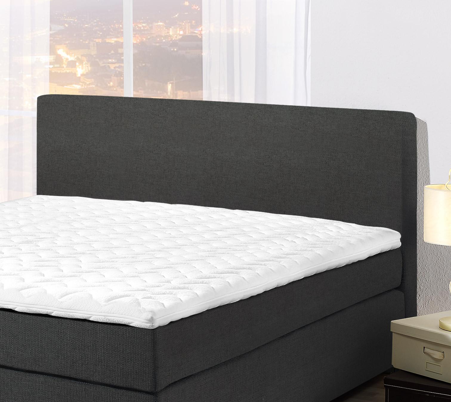 boxspringbett 7 zonen taschenfederkern matratze und topper bago. Black Bedroom Furniture Sets. Home Design Ideas