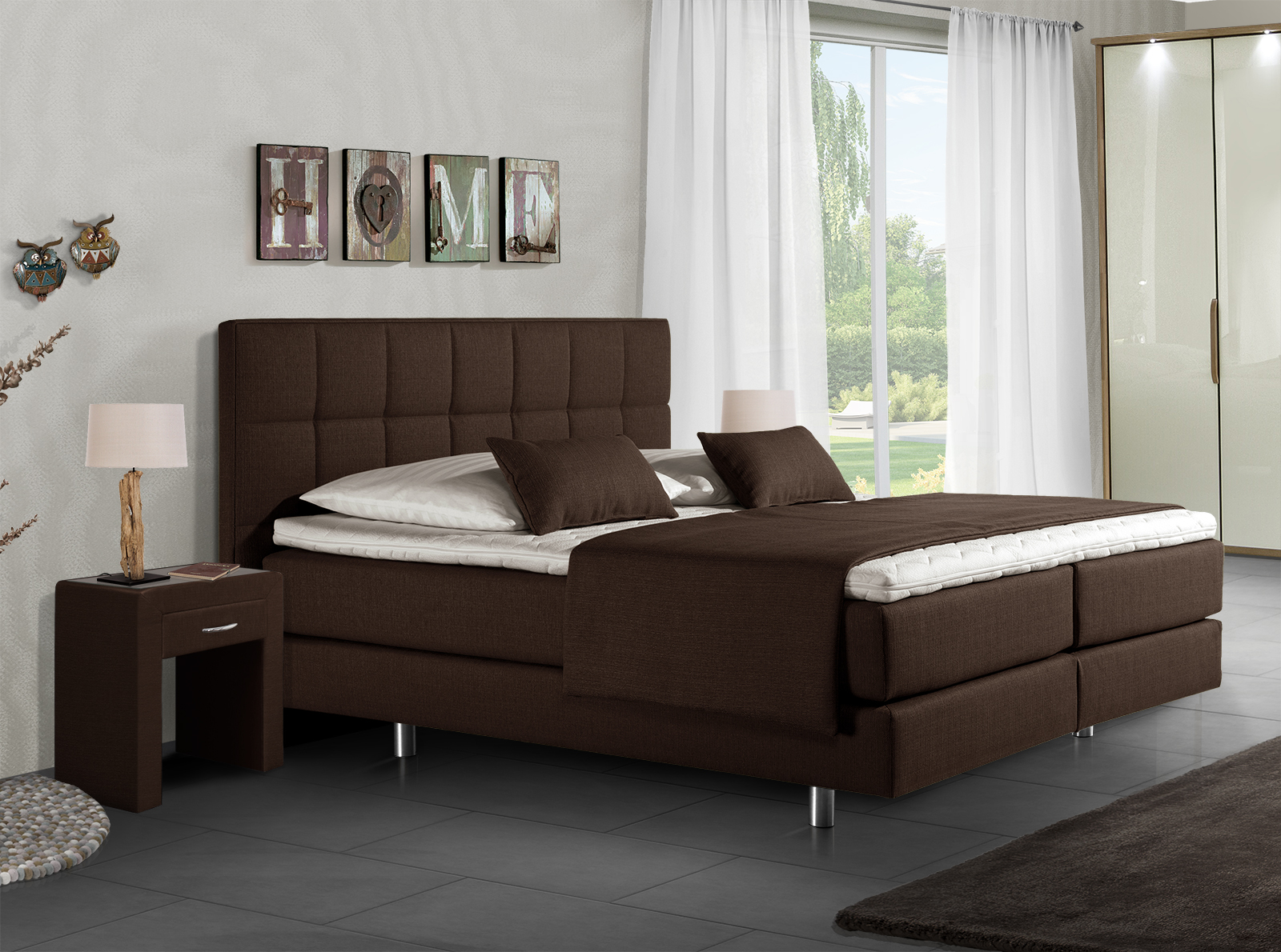 design boxspringbett mit italienischem charme bologna. Black Bedroom Furniture Sets. Home Design Ideas