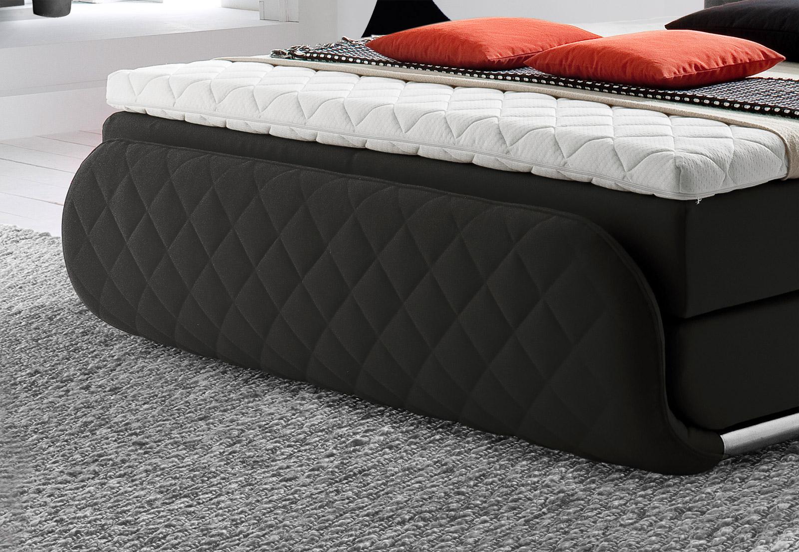 design boxspringbett mit karosteppung cincinnati. Black Bedroom Furniture Sets. Home Design Ideas
