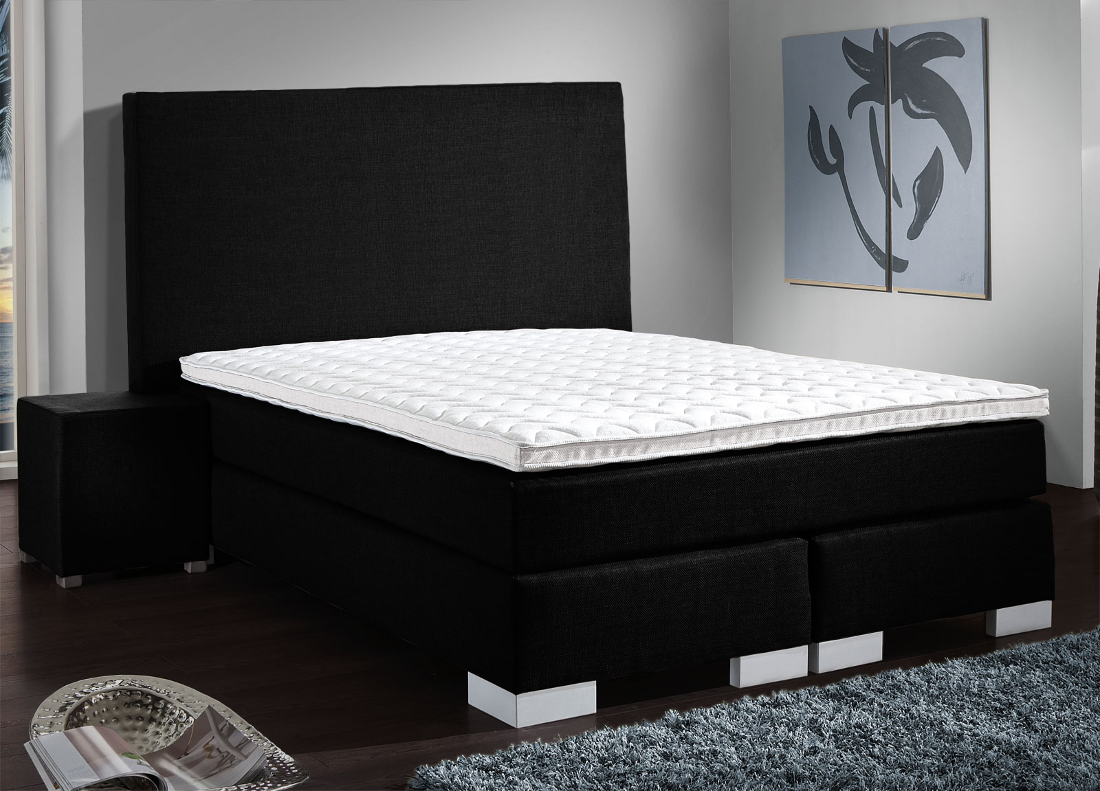 boxspringbett probeliegen und auf rechnung kaufen madeira. Black Bedroom Furniture Sets. Home Design Ideas