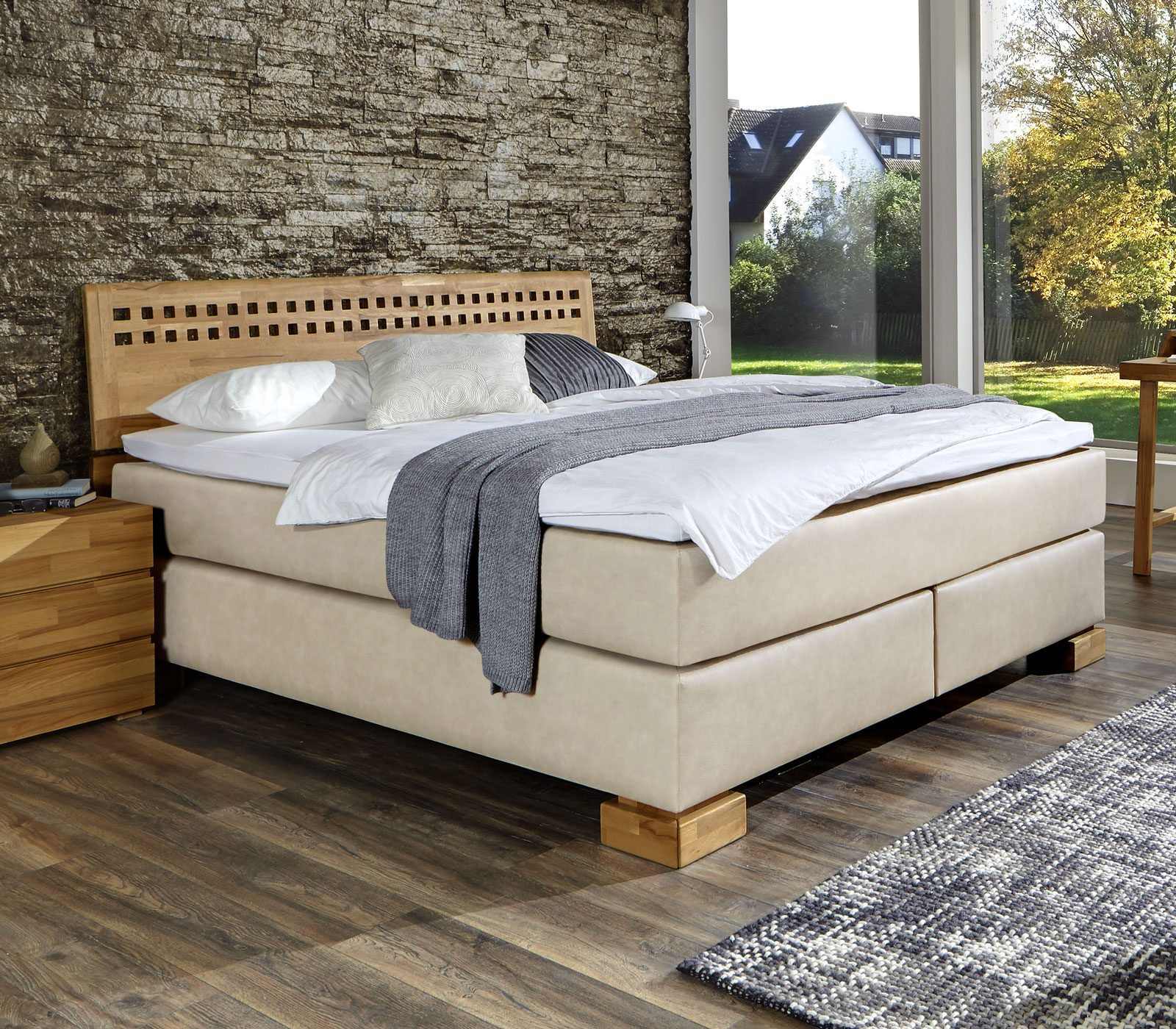 boxspringbett im h rtegrad h2 oder h3 paterno. Black Bedroom Furniture Sets. Home Design Ideas