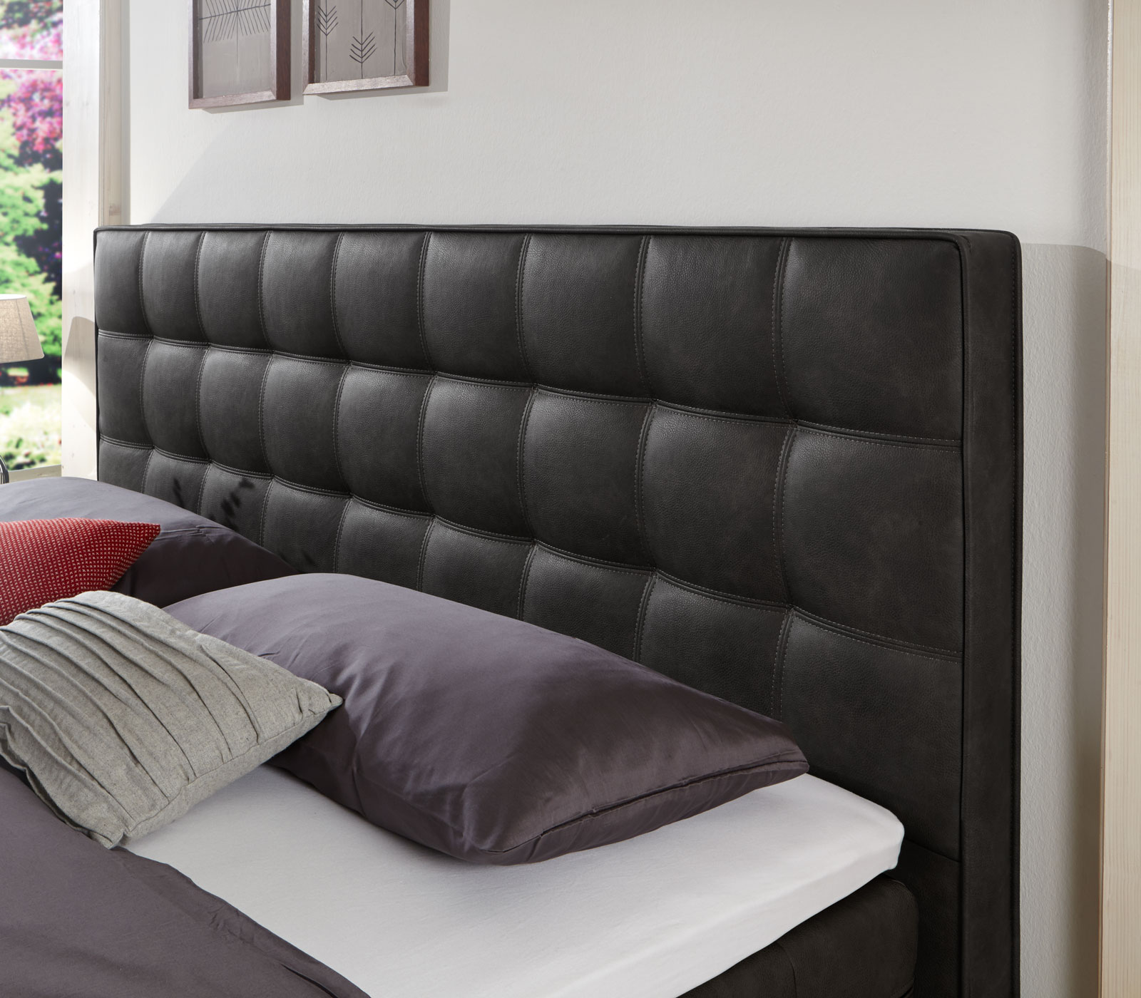 boxspringbett 90x200 mit taschenfederkern matratze zamora. Black Bedroom Furniture Sets. Home Design Ideas