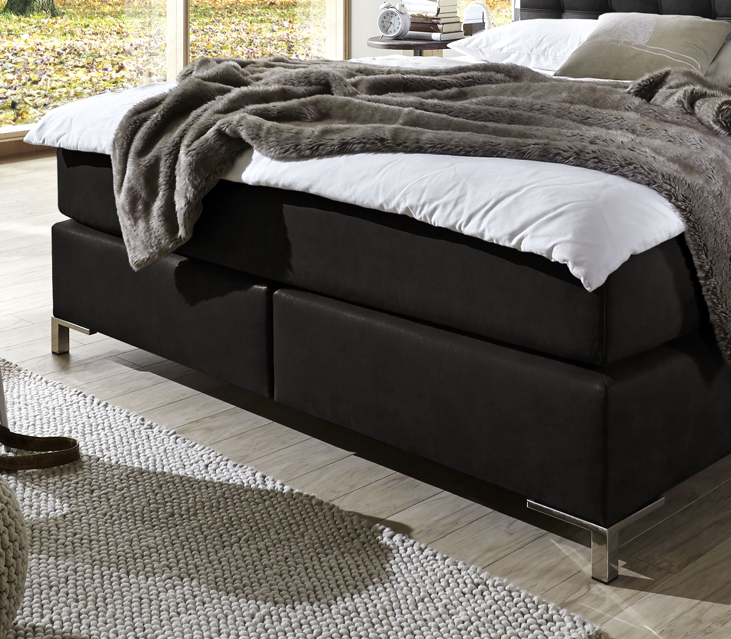 boxspringbett 90x200 mit taschenfederkern matratze zamora. Black Bedroom Furniture Sets. Home Design Ideas