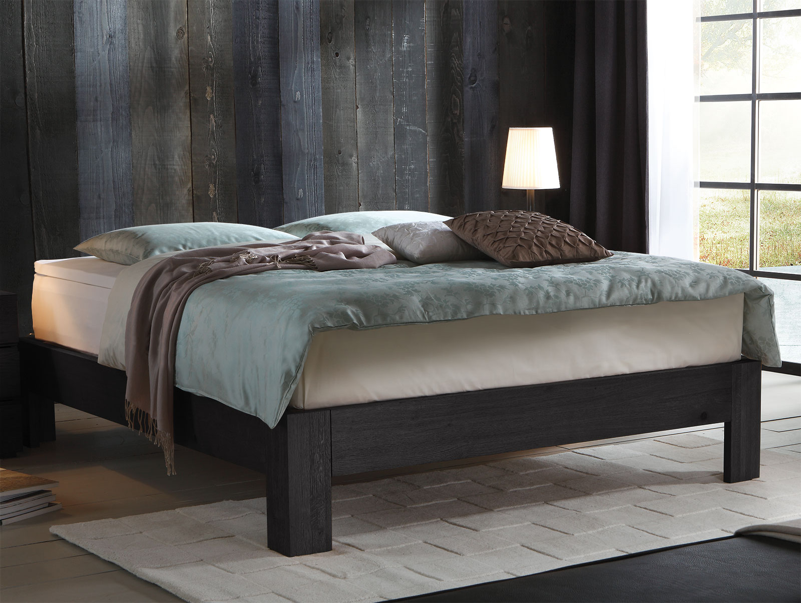 boxspringbett ohne kopfteil in eiche massiv kingston. Black Bedroom Furniture Sets. Home Design Ideas