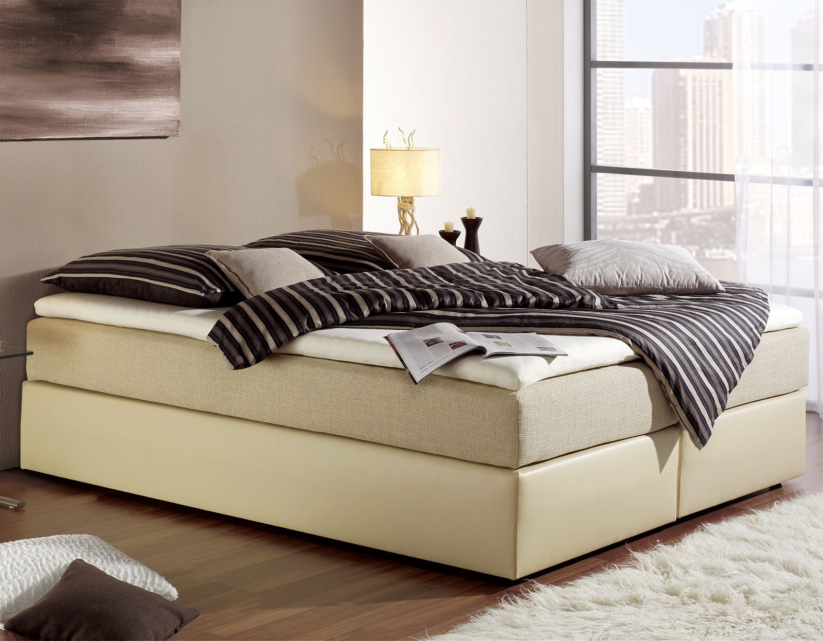 boxspringbett 140x200 cm ohne kopfteil g nstig sydney. Black Bedroom Furniture Sets. Home Design Ideas