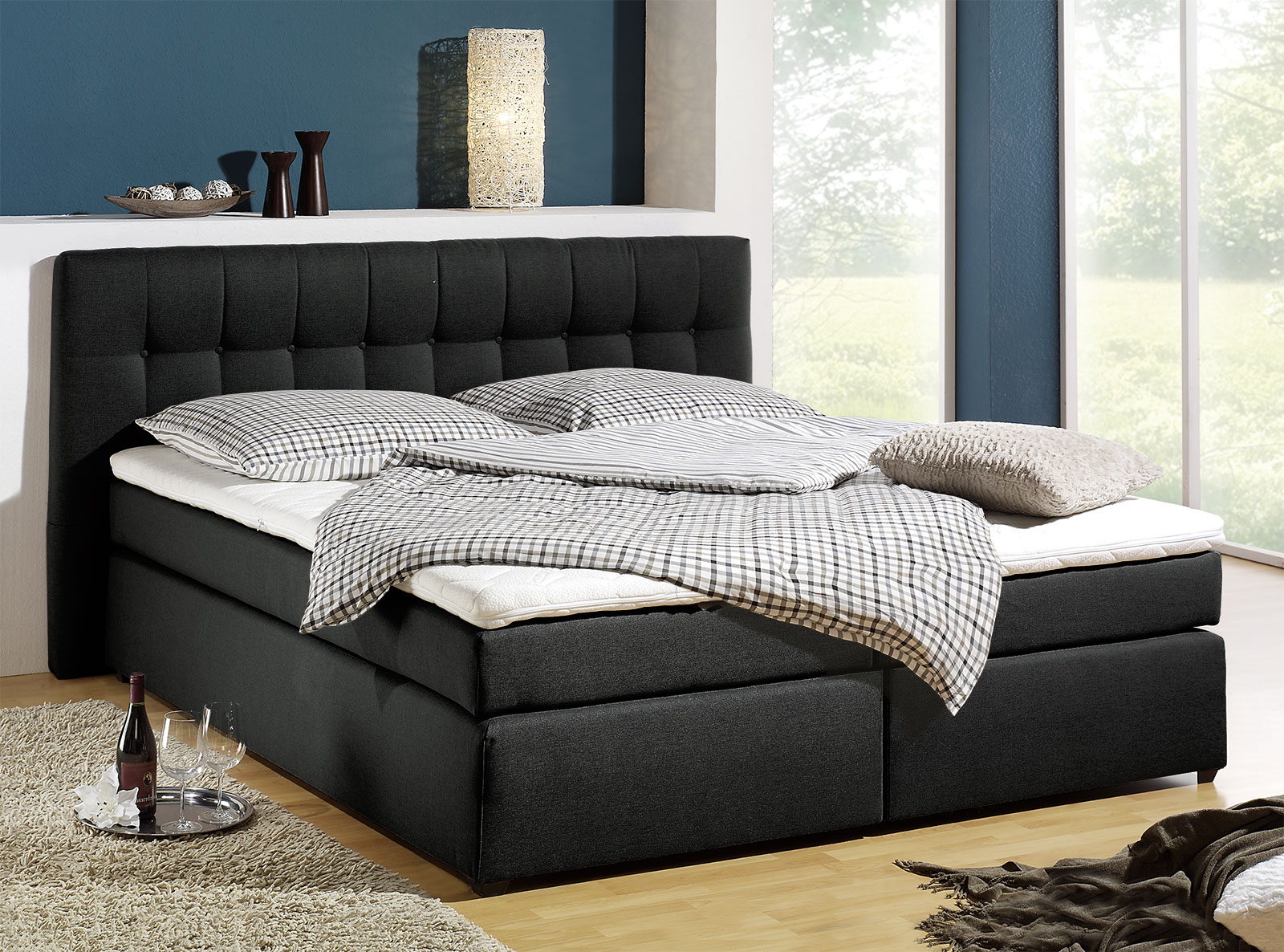 boxspringbett in h3 bis 120kg k rpergewicht chicago. Black Bedroom Furniture Sets. Home Design Ideas