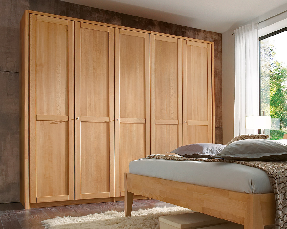 dreht ren kleiderschrank aus buche mit spiegelfront triest. Black Bedroom Furniture Sets. Home Design Ideas