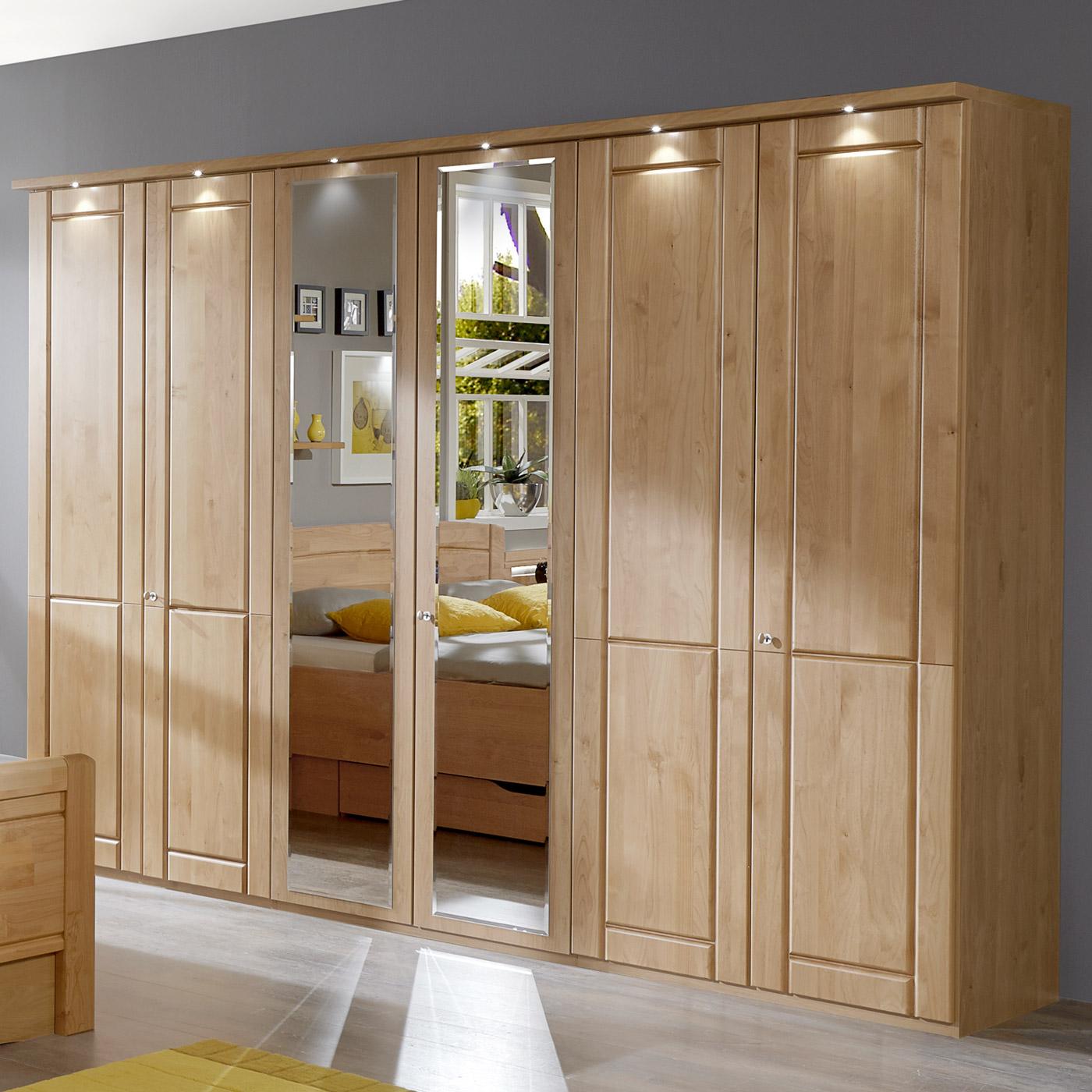 schlafzimmerschrank mit dreht ren und spiegel aus erle. Black Bedroom Furniture Sets. Home Design Ideas