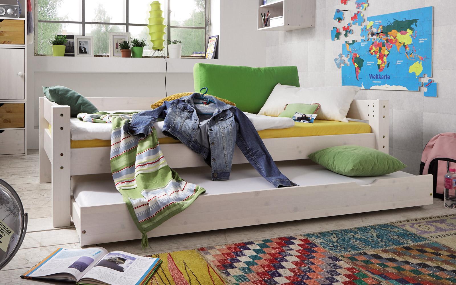 Etagenbett Einzelbett : Gute qualität aus holz etagenbett in weiß einzelbett dachboden