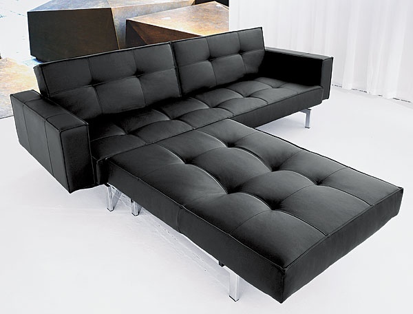 schlafcouch in schwarz umklappbar flash light deluxe. Black Bedroom Furniture Sets. Home Design Ideas