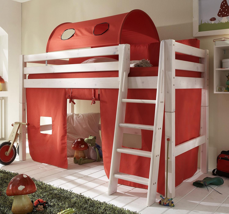midi hochbett mit lattenrost kids paradise. Black Bedroom Furniture Sets. Home Design Ideas