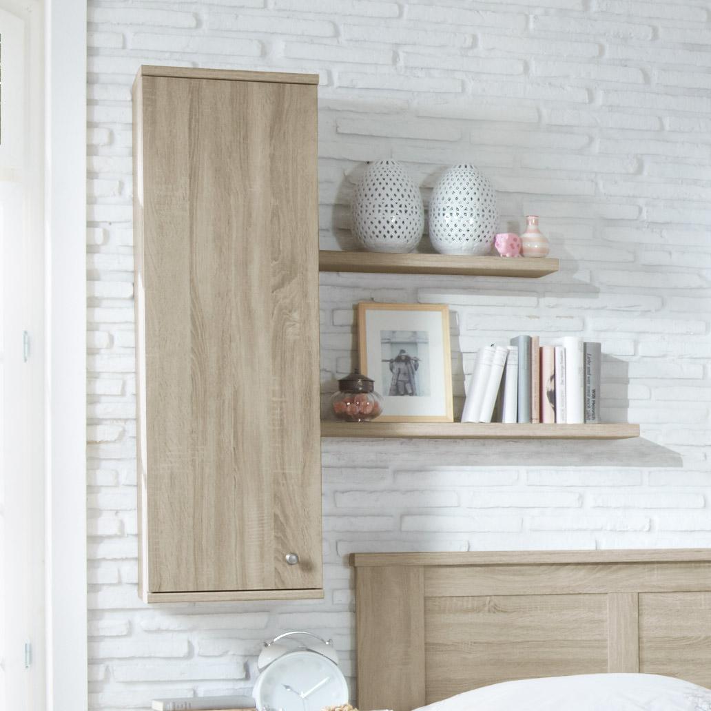 h ngeschrank eiche s gerau dekor mit optionalen steckb den. Black Bedroom Furniture Sets. Home Design Ideas